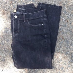 White House Black Market Cropped Black Jeans sz 6